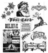 Stampers Anonymous Tim Holtz - Cling Mounted Stamp Set - Mini Holidays – CMS066